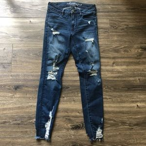 American Eagle Distressed Jegging Jeans